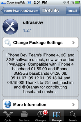 unlock iphone ios4.3.1