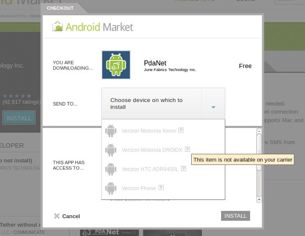 android tether