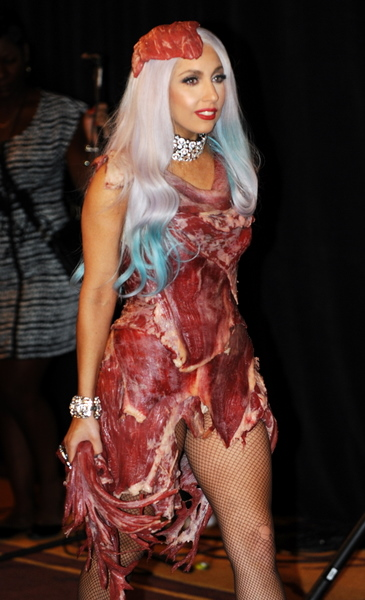 Lady Gaga wears her controversial meat d