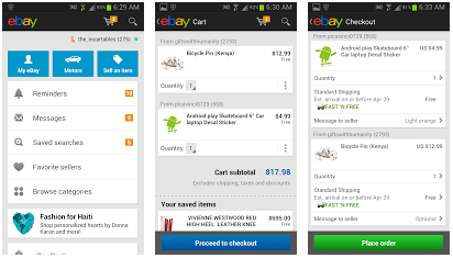 Ebay Updates Android App With New Shopping Cart Feature And Ui Beginnerstech
