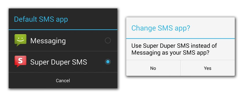 sms-android 4.4-kitkat-changes