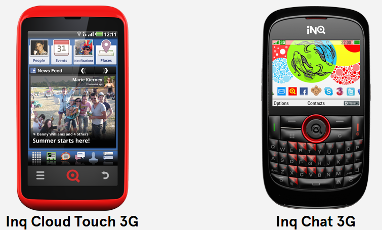 Inq handset support  Inq Cloud Touch  Inq Mini  Inq Chat   INQ1 Support  User Guides   Software updates