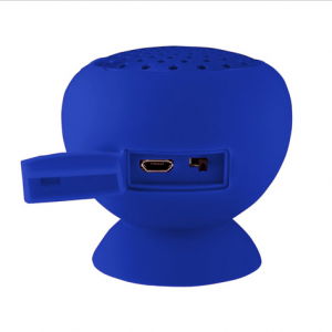 Gum Rock Bluetooth Portable Suction Speaker Stand   Blue