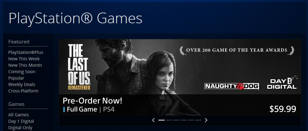 The Last of Us: Remastered for PS4 Appears