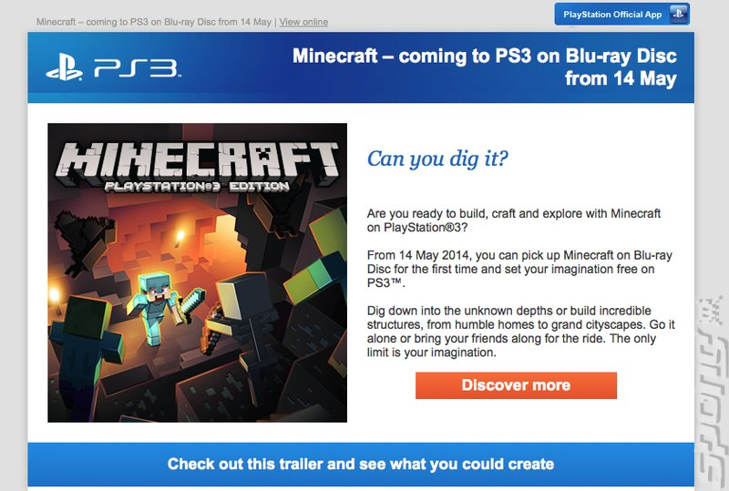 Minecraft PS3 Coming to Retail?