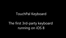 TouchPal Keyboard for iOS8 demo