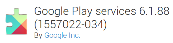 Google Play services 6-1-88